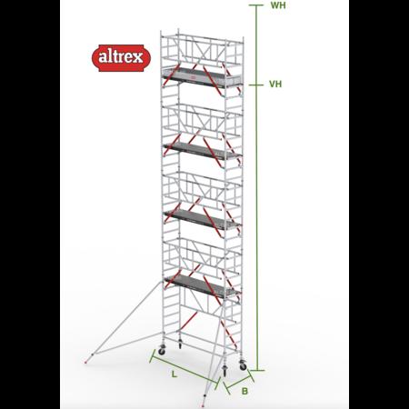 altrex RS Tower 51-S met Safe-Quick 0.90(B) x 2.45(L) x 8.20m (VH) = 10.20m (WH)