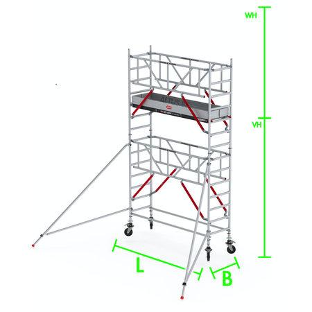 altrex RS Tower 51-S met Safe-Quick 0.90(B) x 3.05(L) x 3.20m (VH) = 5.20m (WH)
