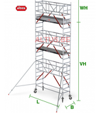 altrex RS Tower 51-S met Safe-Quick 0.90(B) x 3.05(L) x 5.20m (VH) = 7.20m (WH)