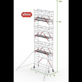 RS Tower 51-S met Safe-Quick 0.90(B) x 3.05(L) x 6.20m (VH) = 8.20m (WH)