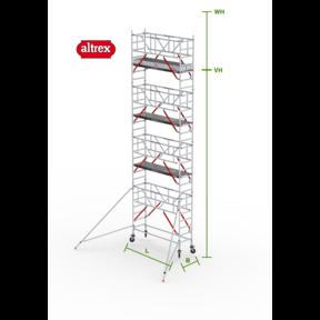 RS Tower 51-S met Safe-Quick 0.90(B) x 3.05(L) x 7.20m (VH) = 9.20m (WH)