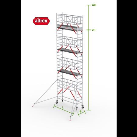 altrex RS Tower 51-S met Safe-Quick 0.90(B) x 3.05(L) x 7.20m (VH) = 9.20m (WH)
