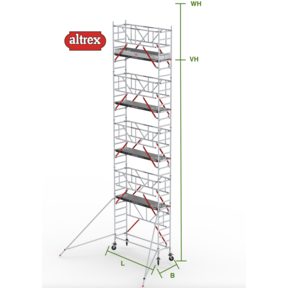 RS Tower 51-S met Safe-Quick 0.90(B) x 3.05(L) x 8.20m (VH) = 10.20m (WH)
