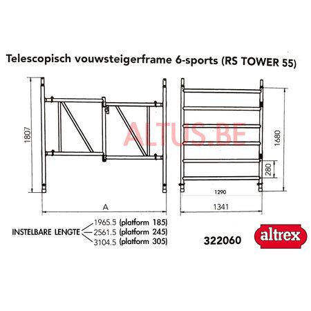 Altrex Altrex RS5 tower onderdelen klap unit 6-sports telescopisch 135