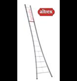 Altrex  enkele ladder 14 treden 4.20 m  brede basis type Ventoux