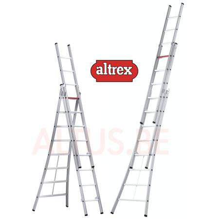 Altrex  2.50 - 5.30m 3-delige reformladder 3 x  8 treden Ventoux