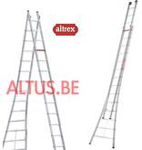 Altrex 4.18 - 6.98m 2-delige reformladder 2 x  14 treden Ventoux