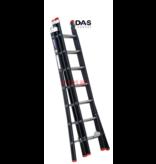 Big-1 2.00 - 4.50m 3-delige Atlas-black reformladder 3x7