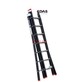 2.00 - 4.50m 3-delige Atlas-black reformladder 3x7