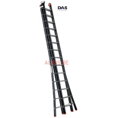DAS products 3.80 - 9.05m 3-delige Atlas - black schuifladder 3x14