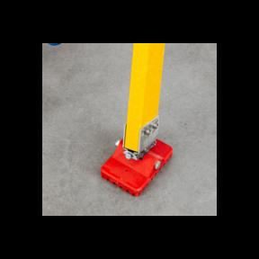 Set antislip kantelvoeten 110x75mm voor montage op ladderbomen