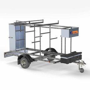 RS60 Afsluitbare rolsteigeraanhangwagen