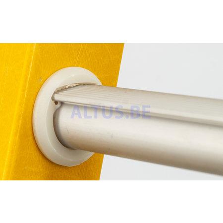 STALTOR 2-delige GVK schuifladder met touw 2x14 alu sporten met stabibalk
