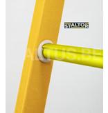 STALTOR 2-delige GVK schuifladder met touw 2x18 sporten met stabibalk