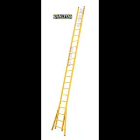 Enkele GVK ladder 20 sporten  verbrede basis opengaande bomen