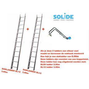 6.00m dakladderset solide easy-fit