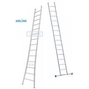 Professionele enkele ladder 14 treden 3.75m