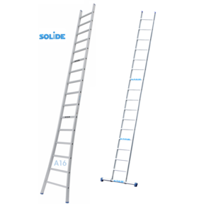 Professionele enkele ladder 16 treden 4.25m