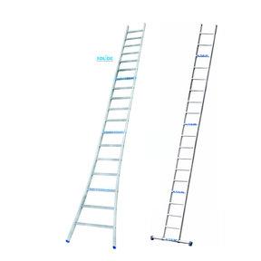 Professionele enkele ladder 18 treden 4.75m