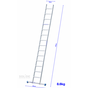 Professionele enkele ladder 28 treden 7.25m