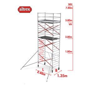 RS TOWER 55 kamersteiger 1.35 x 2.45 x 13.80m WH