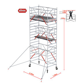 RS TOWER 52-S met Safe-Quick 1.35 x 2.45 x 7.20 m WH