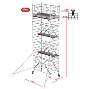 RS TOWER 52-S met Safe-Quick 1.35 x 2.45 x 8.20 m WH