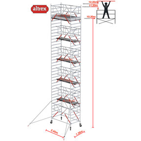 RS TOWER 52-S met Safe-Quick 1.35 x 2.45 x 12.20 m WH