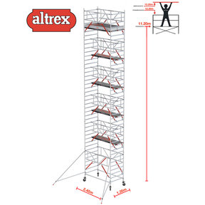 RS TOWER 52-S met Safe-Quick 1.35 x 2.45 x 13.20 m WH