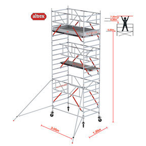 RS TOWER 52-S met Safe-Quick 1.35 x 3.05 x 7.20 m WH