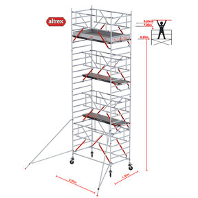 RS TOWER 52-S met Safe-Quick 1.35 x 3.05 x 8.20 m WH