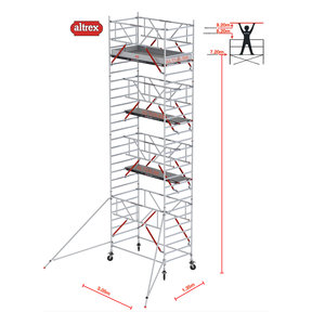 RS TOWER 52-S met Safe-Quick 1.35 x 3.05 x 9.20 m WH