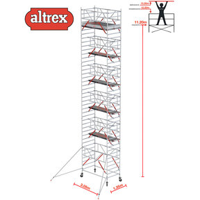 RS TOWER 52-S met Safe-Quick 1.35 x 3.05 x 13.20 m WH