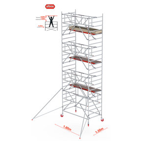 Gevelvrij* 1.35 x 1.85 x 8.20m WH Safe-Quick RS Tower 42-S