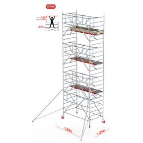 Gevelvrij* 1.35 x 1.85 x 8.20m WH Safe-Quick RS Tower 42-S