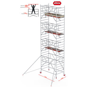 Gevelvrij* 1.35 x 1.85 x 9.20m WH Safe-Quick RS Tower 42-S