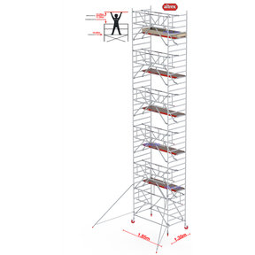 Gevelvrij* 1.35 x 1.85 x 12.20m WH Safe-Quick RS Tower 42-S