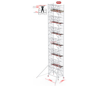 Gevelvrij* 1.35 x 2.45 x 14.20m WH Safe-Quick RS Tower 42-S