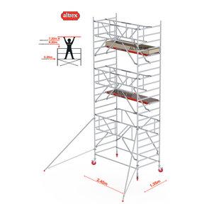 Gevelvrij* 1.35 x 2.45 x 7.20m WH Safe-Quick RS Tower 42-S