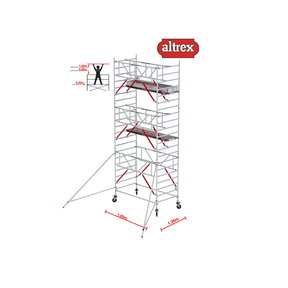 Gevelvrij RS Tower 52-S met Safe-Quick 1.35 x 1.85 x 7.20m WH