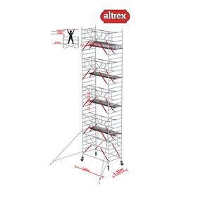 Gevelvrij RS Tower 52-S met Safe-Quick 1.35 x 1.85 x 10.20m WH