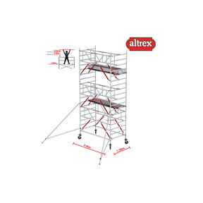 Gevelvrij* 1.35 x 2.45 x 6.20m WH Safe-Quick RS Tower 52-S