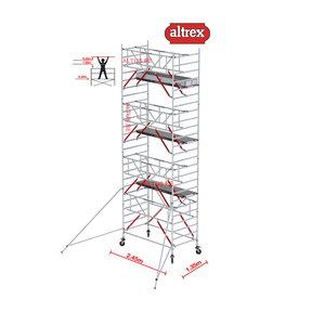 Gevelvrij* 1.35 x 2.45 x 8.20m WH Safe-Quick RS Tower 52-S