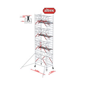 Gevelvrij* 1.35 x 2.45 x 9.20m WH Safe-Quick RS Tower 52-S