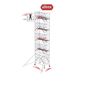 Gevelvrij* 1.35 x 2.45 x 11.20m WH Safe-Quick RS Tower 52-S