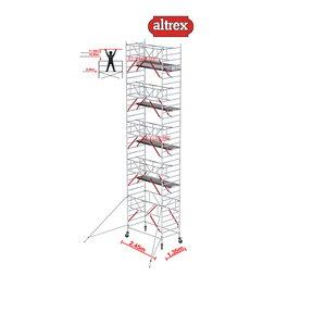 Gevelvrij RS Tower 52-S met Safe-Quick 1.35 x 2.45 x 11.20m WH