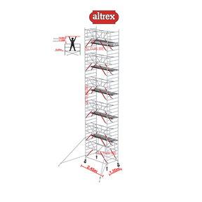 Gevelvrij* 1.35 x 2.45 x 12.20m WH Safe-Quick RS Tower 52-S