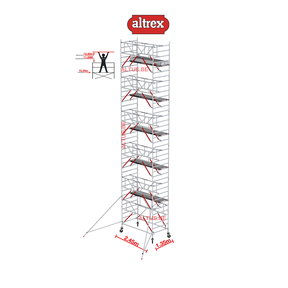 Gevelvrij RS Tower 52-S met Safe-Quick 1.35 x 2.45 x 12.20m WH