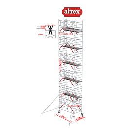 Gevelvrij RS Tower 52-S met Safe-Quick 1.35 x 1.85 x 12.20m WH