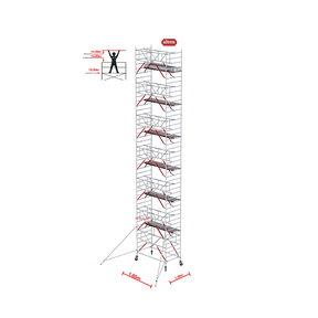 Gevelvrij RS Tower 52-S met Safe-Quick 1.35 x 1.85 x 14.20m WH